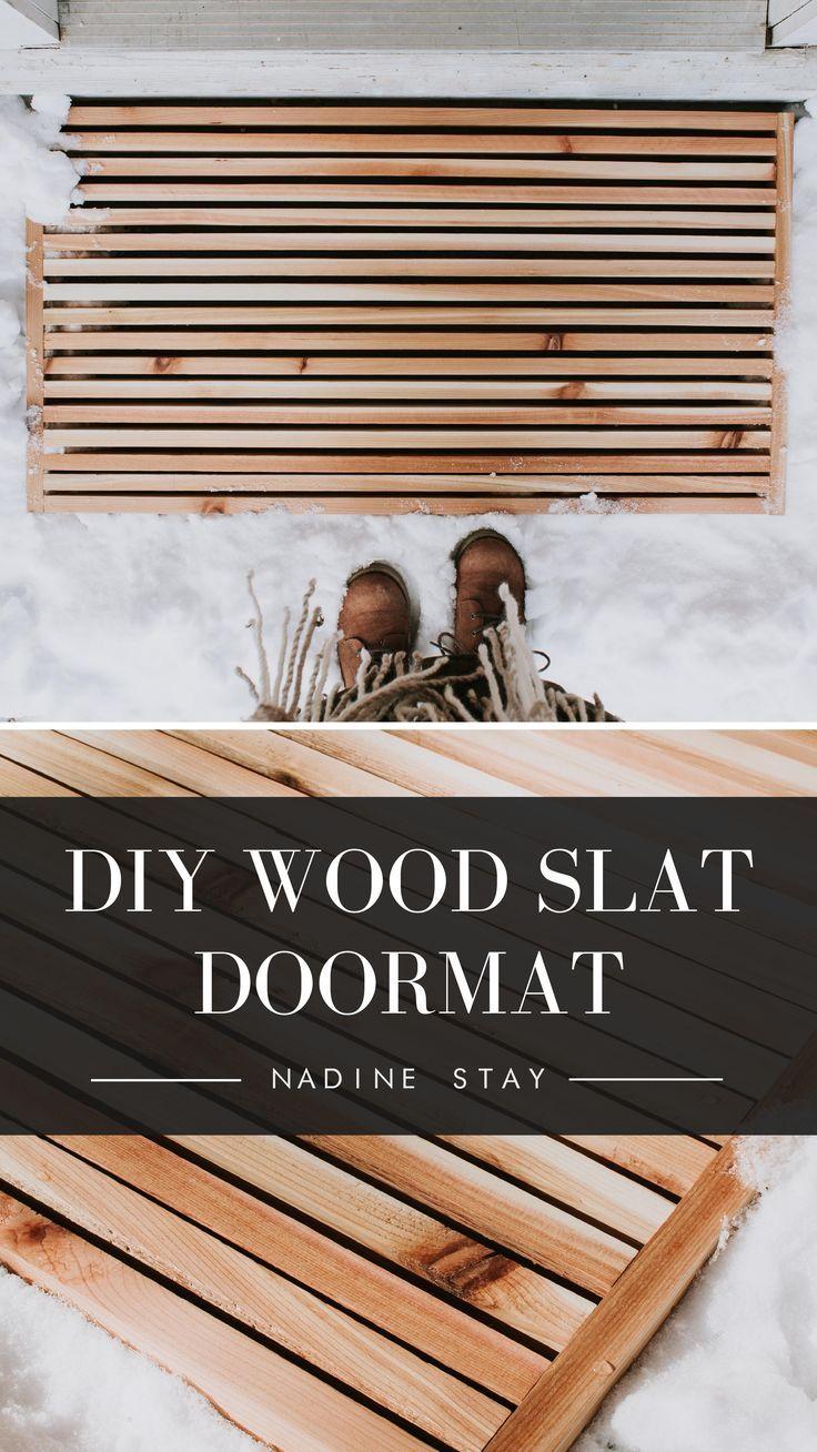 Photo of DIY WOOD SLAT DOORMAT | Nadine Stay