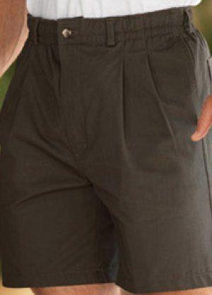 Creekwood Big and Tall Mens Pleated Elastic Waist Short