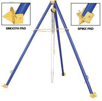 The Tripod Hoist Stand is a portable and adjustable height