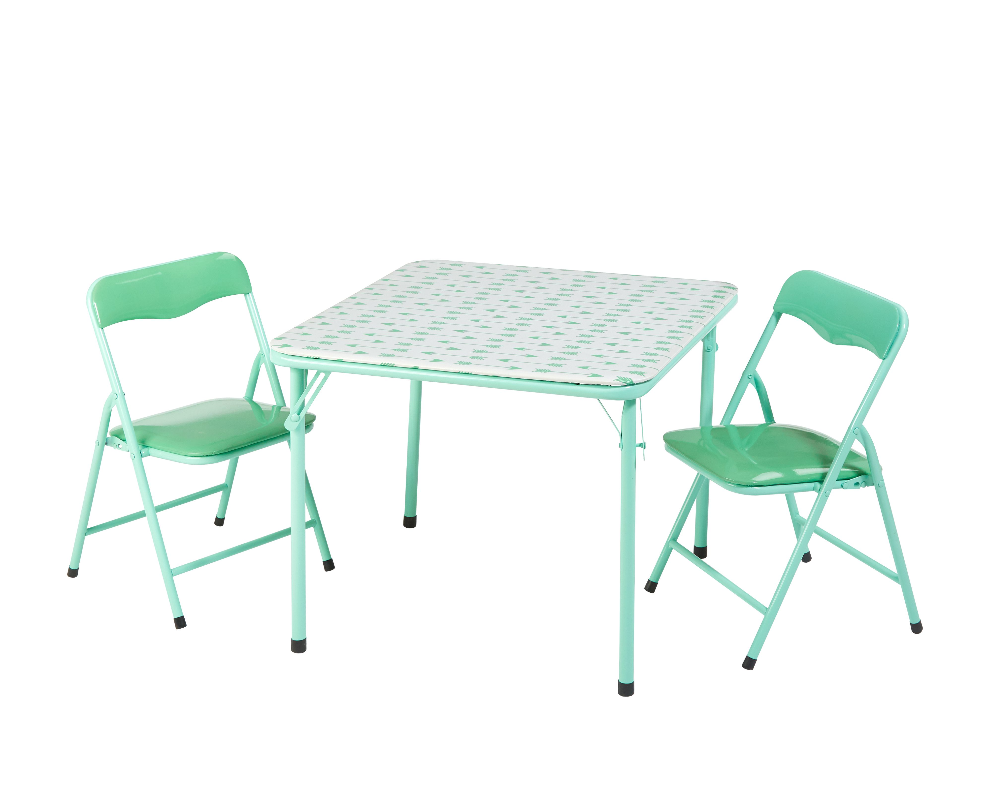 American Kids Cleo Metal Folding 3 Piece Table and Chair