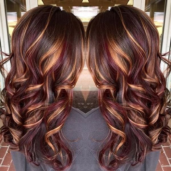 48150916 highlights for brown hair hair pinterest brown chestnut brown hair with burgundy lowlights caramel highlights find this pin and more on rock your locks pmusecretfo Images