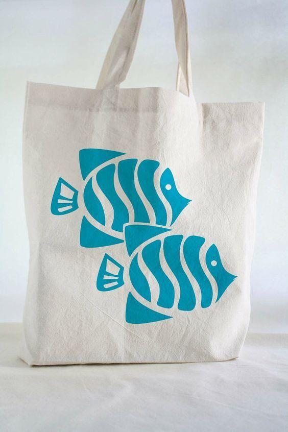 Ocean Fishes CLM0710397 Handmade Tote Bag – Tote bags