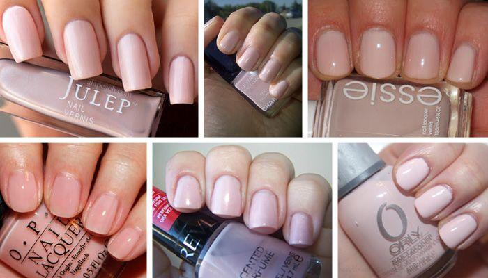wedding nail polish ballet pink