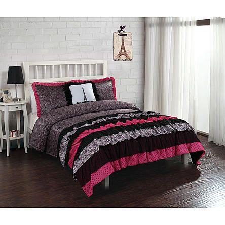 Bed Threads Leigh Ann Ruffle Comforter Set With Sham S Alternate Image Ruffle Comforter Comforter Sets White Ruffle Comforter