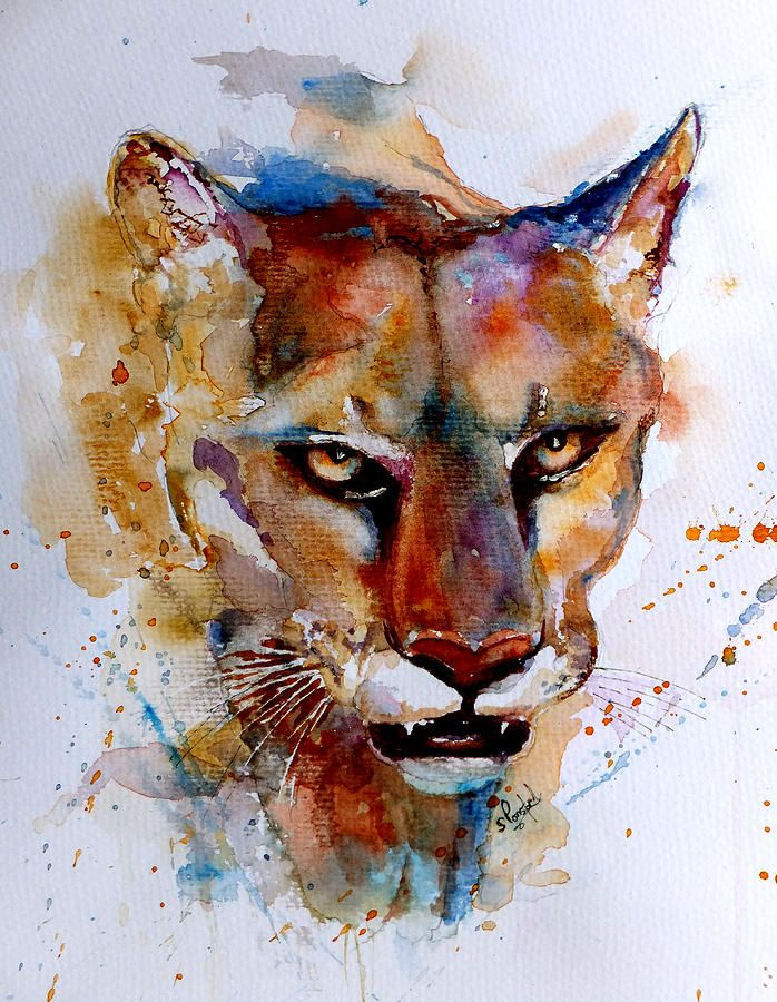 On The Prowl By Steven Ponsford In 2020 Art Lion Painting Cat Art
