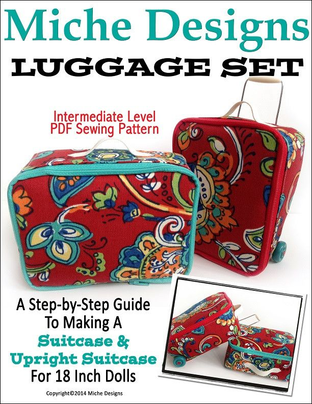 """Luggage Set 18"""" $6 Doll Accessories"""