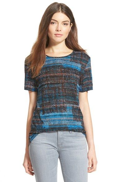 Trouvé Graphic Pattern Tee at Nordstrom.com. Bright hues form the abstract, geo-inspired pattern of a silky tee that can be tucked in front for an of-the-moment look.