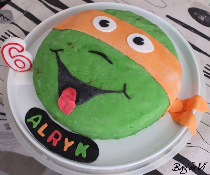 teenage mutant ninja turtle birthday cake -- gâteau tortue ninja