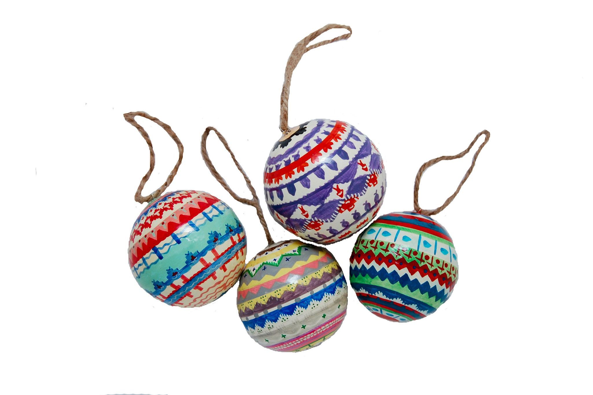 Patterned Winter Ornaments