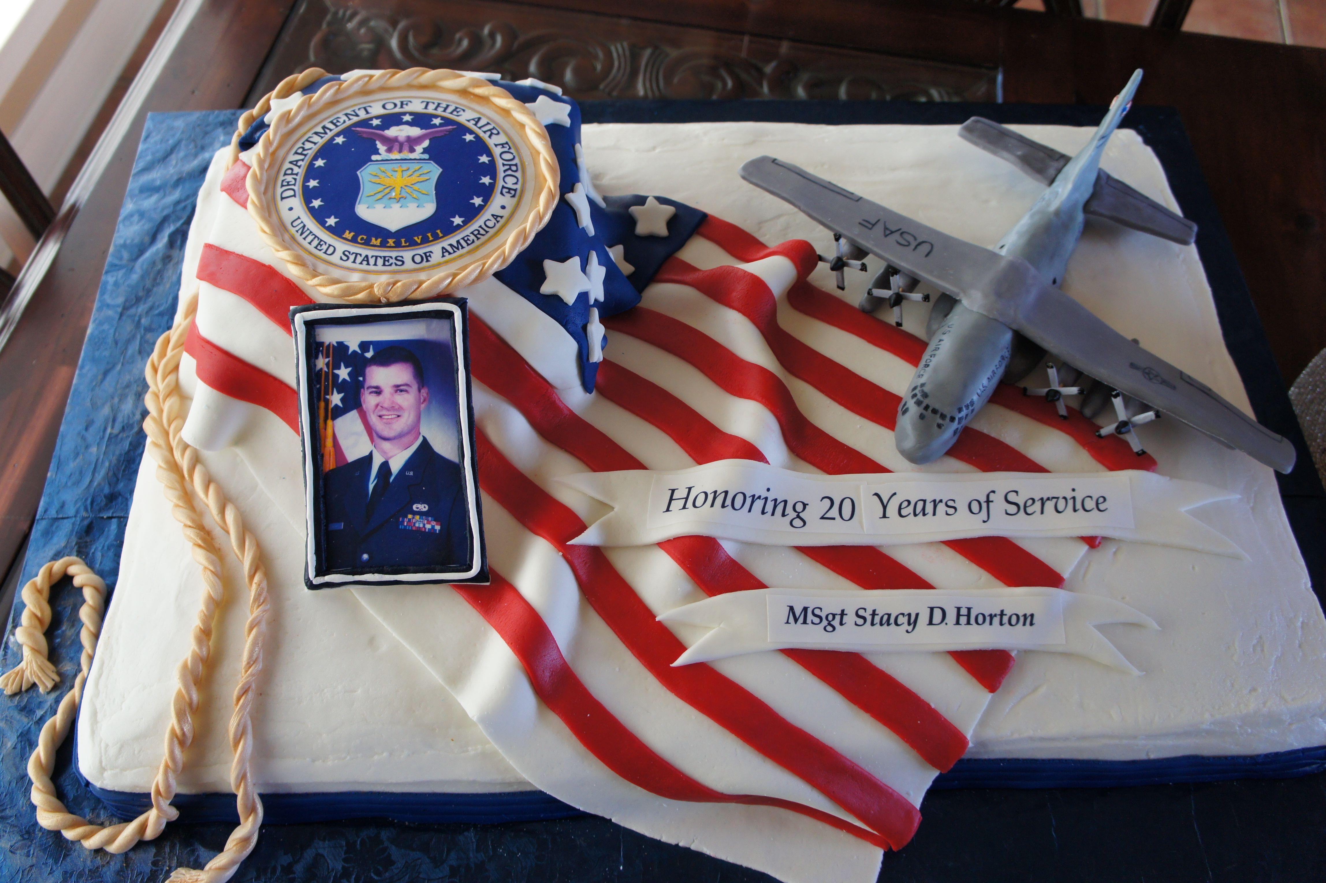 Air Force Retirement Army retirement, Military cake