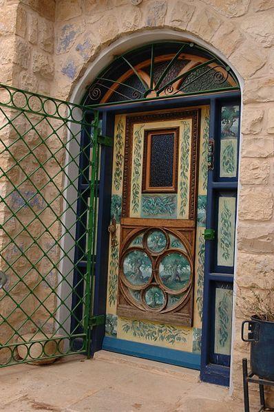 Israel~Designed door in zefat  עברית: דלת מעוצבת בצפת, Original Image Name:דלת מעוצבת בצפת, Location:צפת