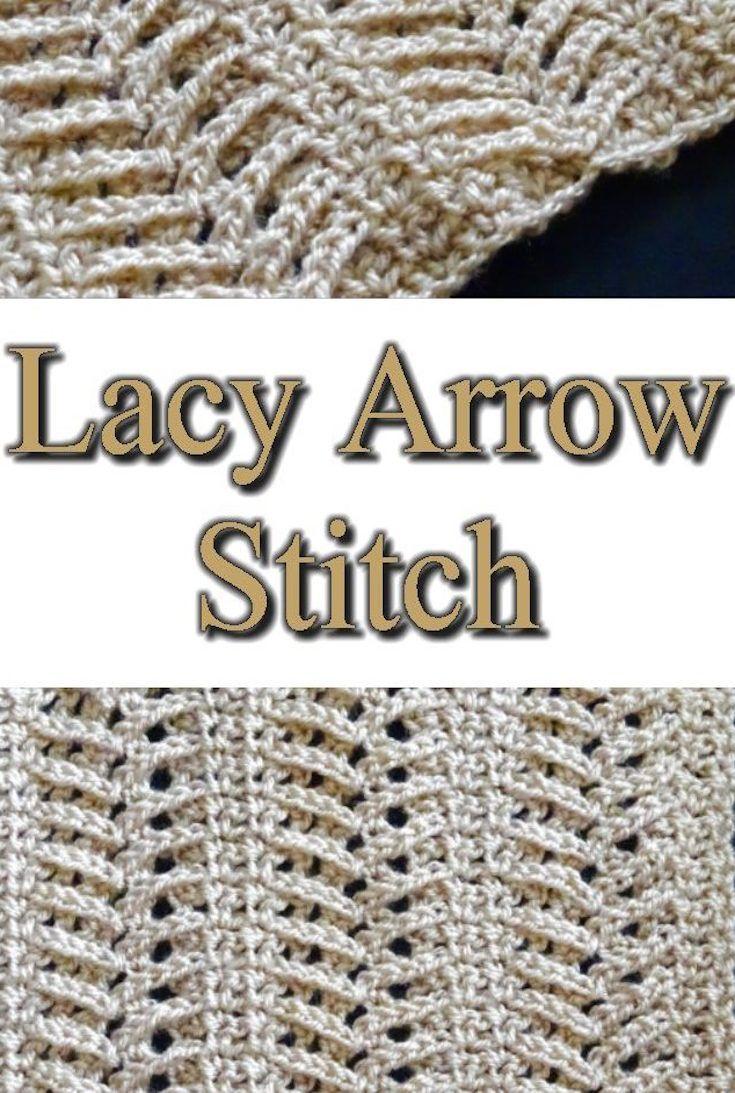 Lacy Arrow Crochet Stitch Tutorials – Meladora\'s Creations ...