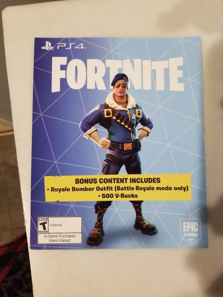 Fortnite Royale Bomber Outfit 500 V Bucks Playstation 4 Ps4 Dlc