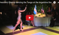 President Obama dancing the Tango at the Argentina State Dinner  He can tango?? Who knew!… BUENOS AIRES, Argentina — Less than 24 hours in Buenos Aires, and Barack Obama is already doing the tango...