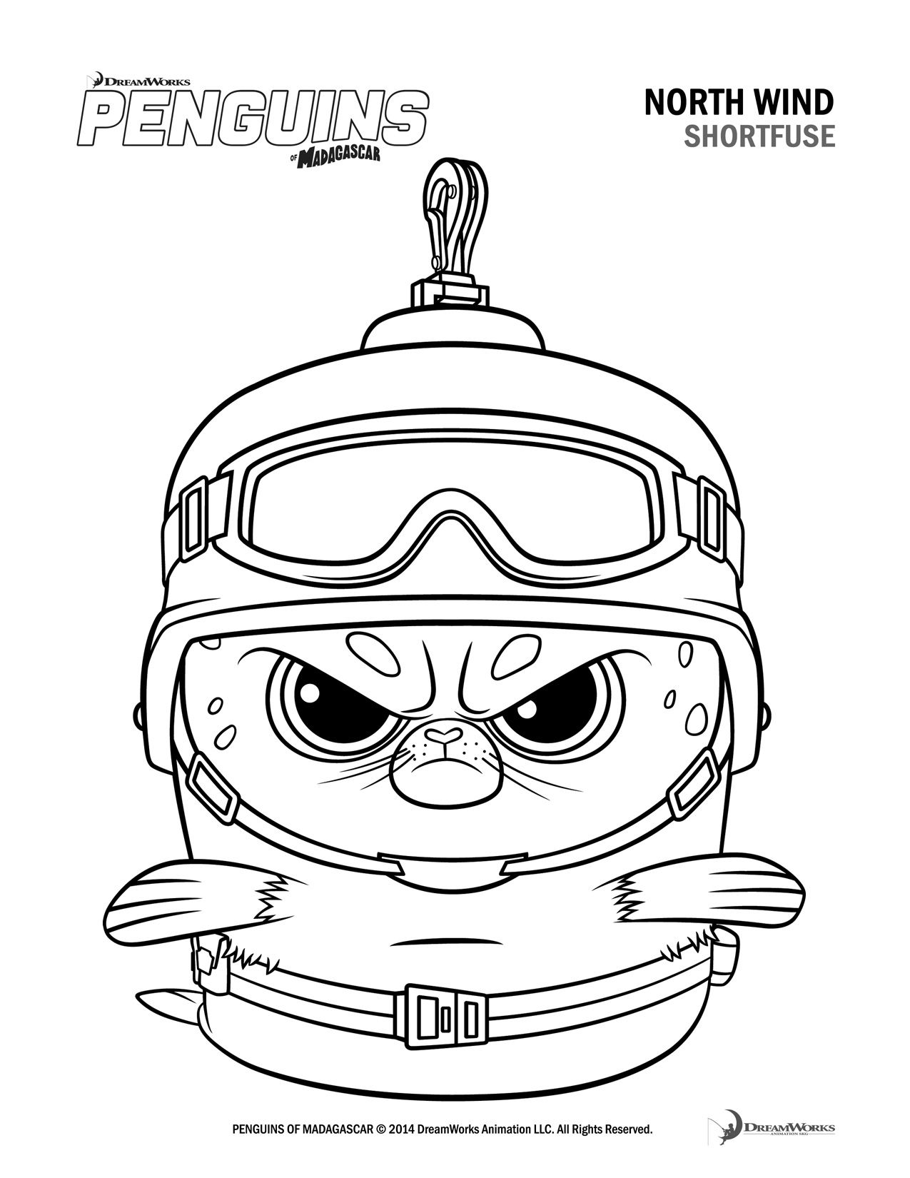 Free Penguins Of Madagascar Coloring Pages And Activity Sheets ...
