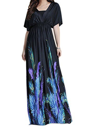 de544fe43c4 Zuku Life Womens VNeck Versatile Long Floral Print Maxi Dress COLOR1 TAG L     Click
