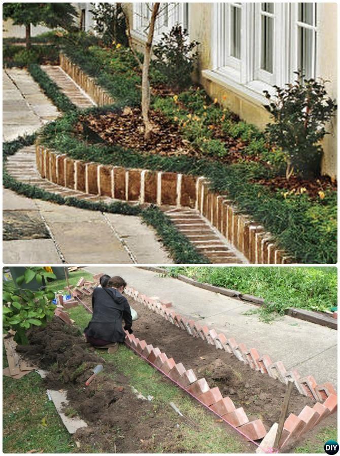 Brick Border Garden Edging 20 Creative Garden Bed Edging Ideas Projects Instructions Garden Edging Garden Beds Garden Boarders Ideas
