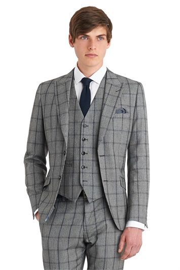 Moss London Slim Fit Black And White Check Suit - Flash Sale: 60 ...