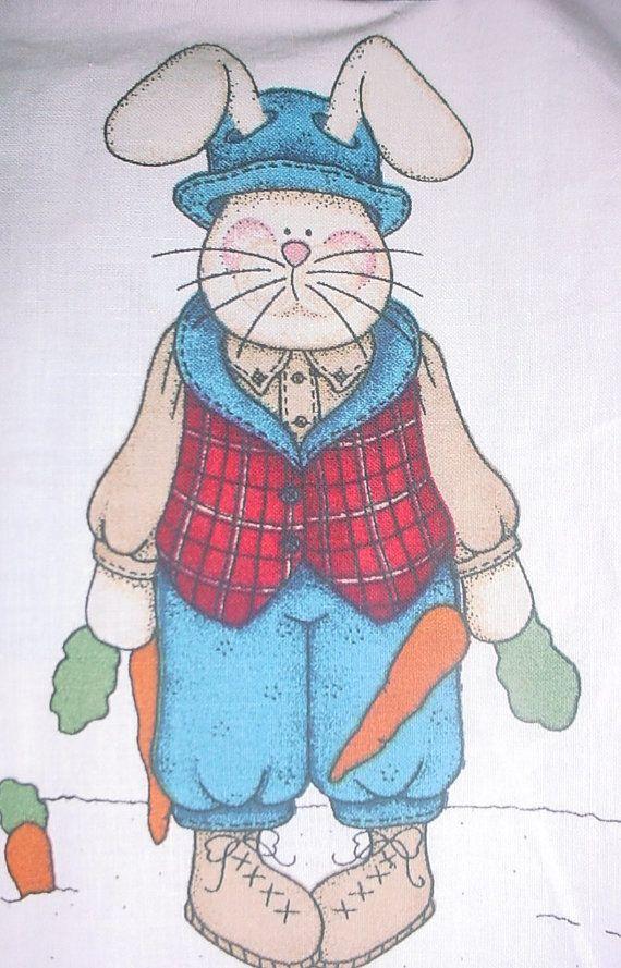 Bunny Craft Panel Daisy Kingdom Easter Bunny por UnicasTreasures