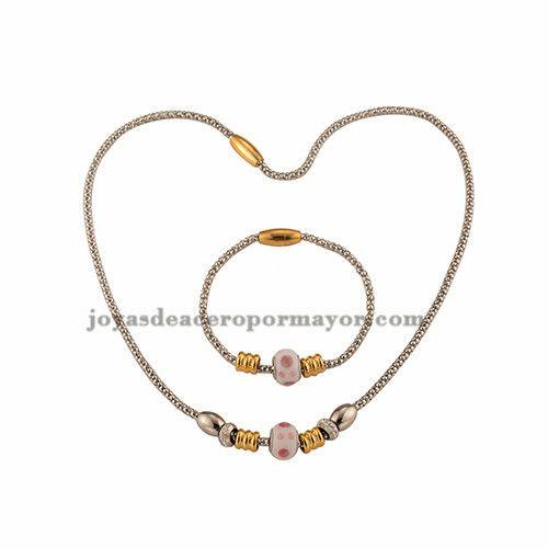 collar electrico para las damas en estilo de perlas