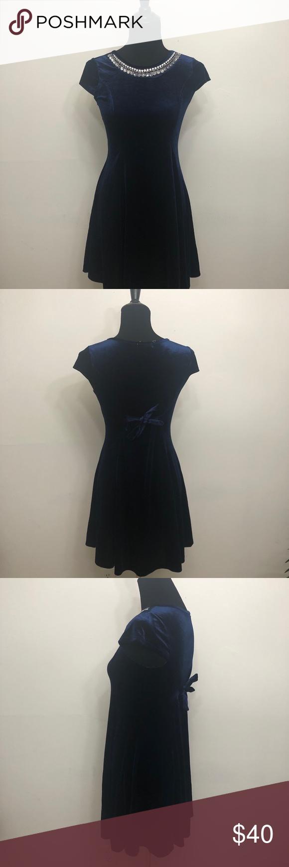 432818651 Ten Sixty Sherman Girls Velvet Necklace Dress Velvet Necklace Dress ...