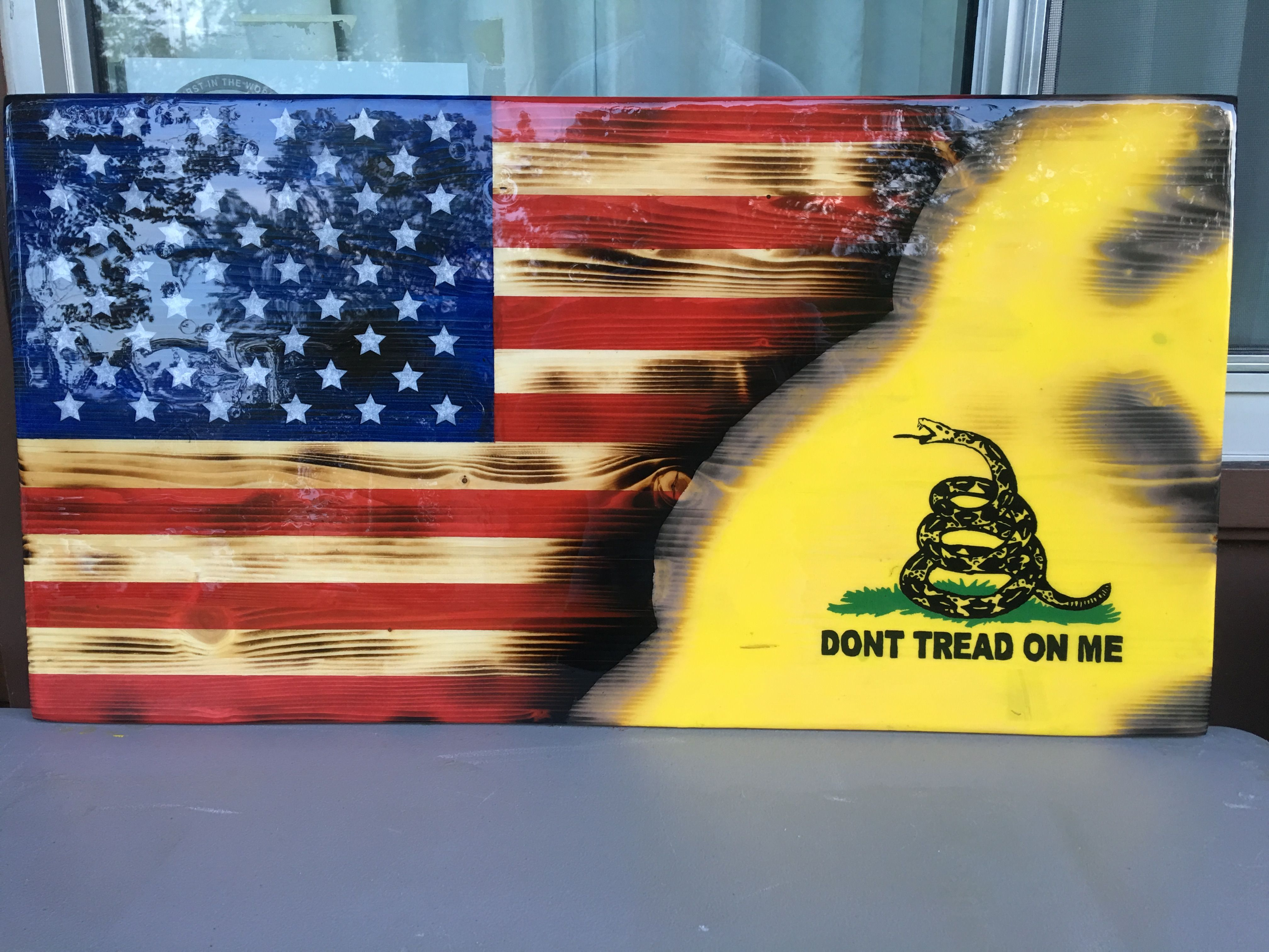 Don\'t Tread on America #1. Rustic American Flag by Worster ...