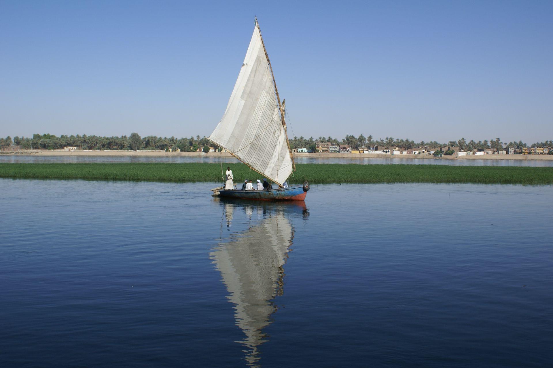 Felouque sur le Nil, mai 2007