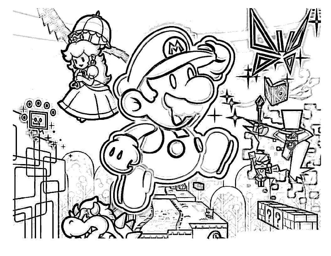 Carátula Super Paper Mario - Planeta Mario - Juegos y Dibujos ...