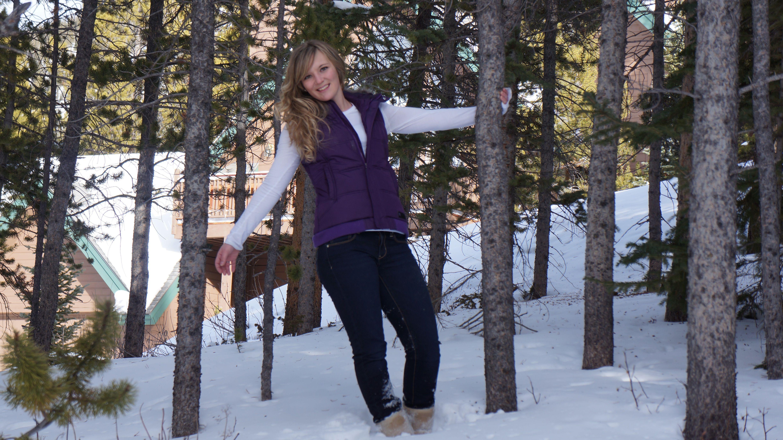 Senior pictures in the snow Senior pictures