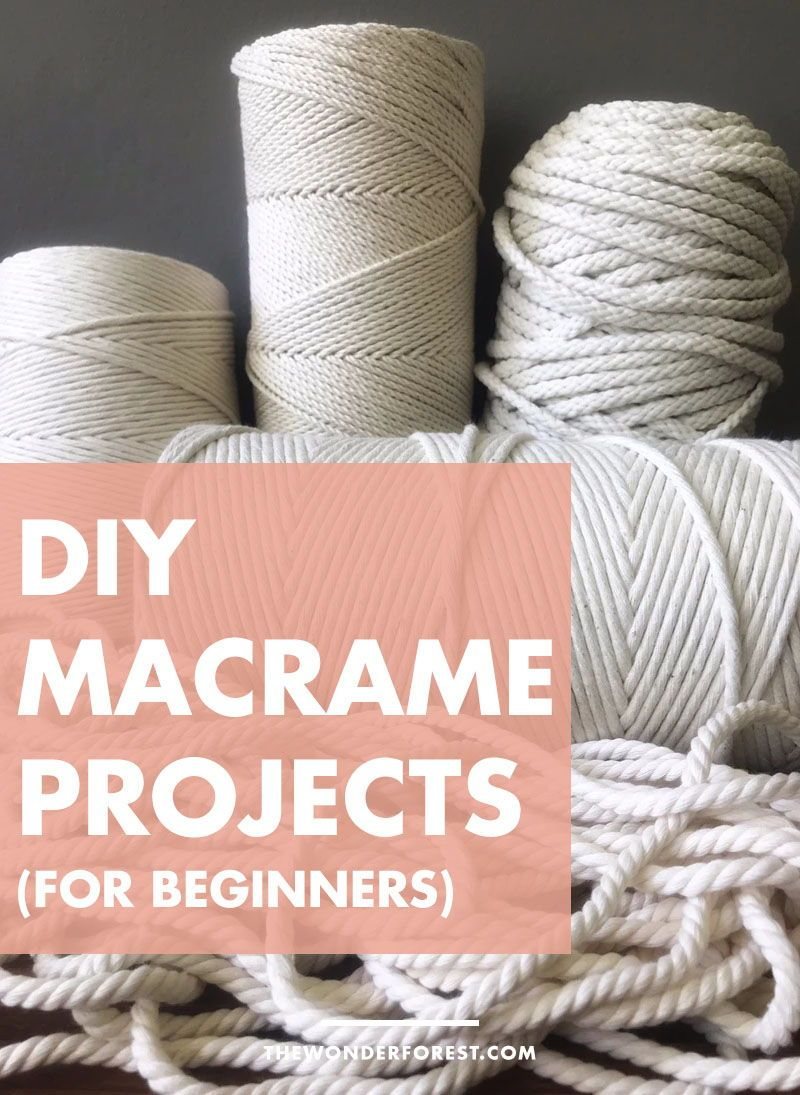 I've scoured the web for some super easy beginner-friendly macrame projects that you can try right now… regardless of your skill level! Any of these projects would make for some great gift ideas too! | Do It Yourself | DIY Projects | Easy DIY Projects | Wonder Forest