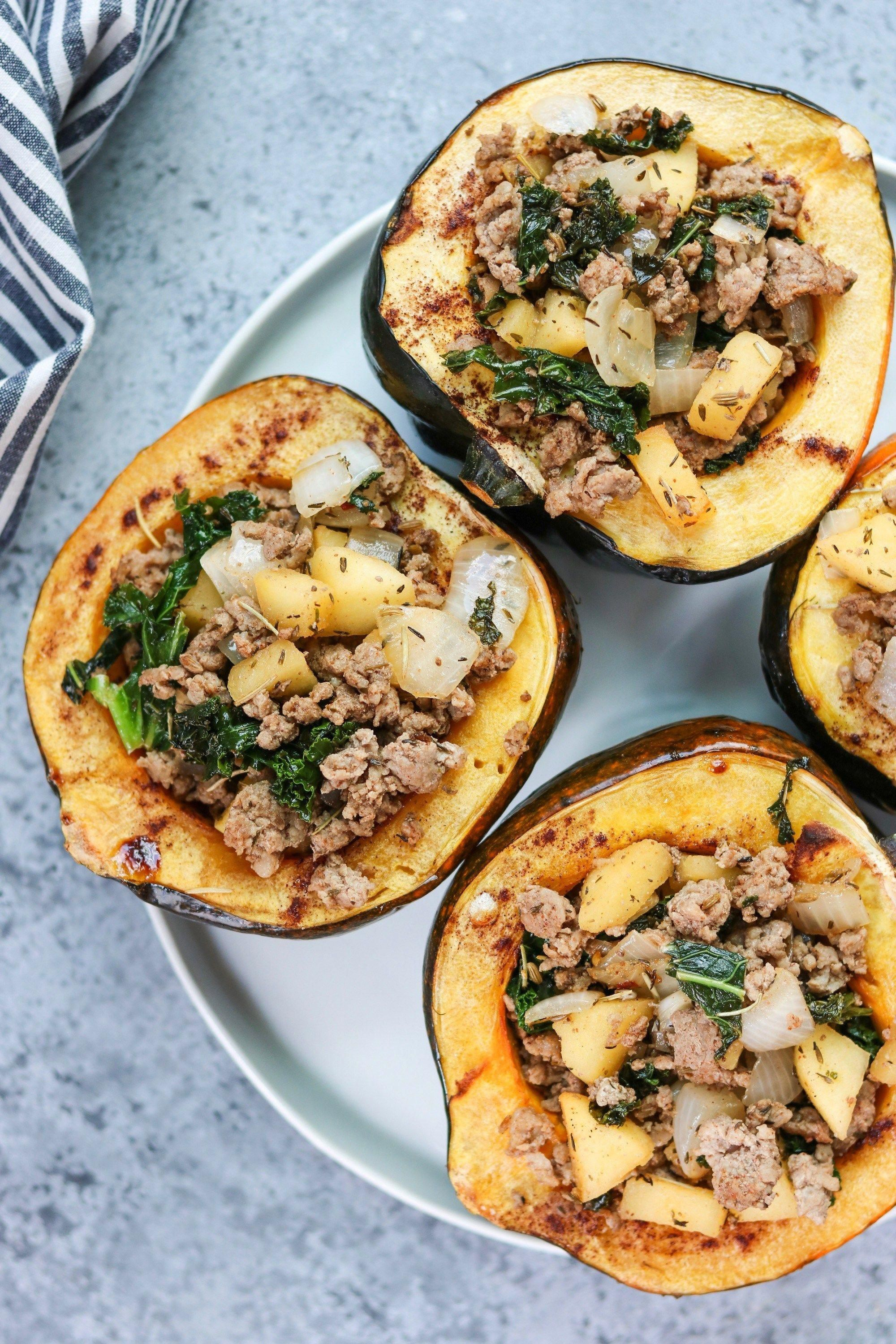 This Whole30 Harvest Stuffed Acorn Squash Is A Delicious Sweet And