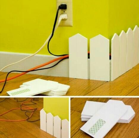 Great idea for trim and wire hiding