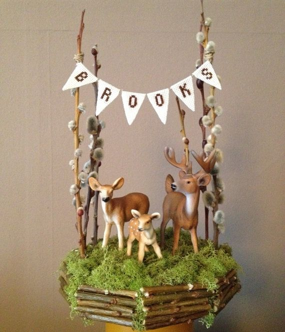 Deer and Fawn Cake Topper on Etsy, $68.00 lol funny that it says brooks