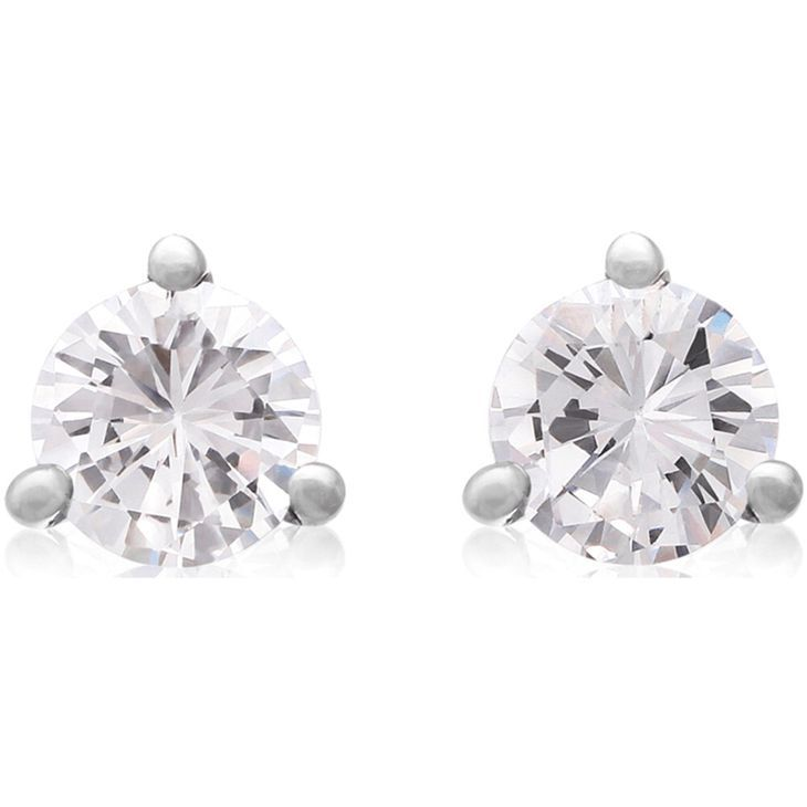 Natural Diamond Stud Earrings In White Gold 1 3ct And Diamonds