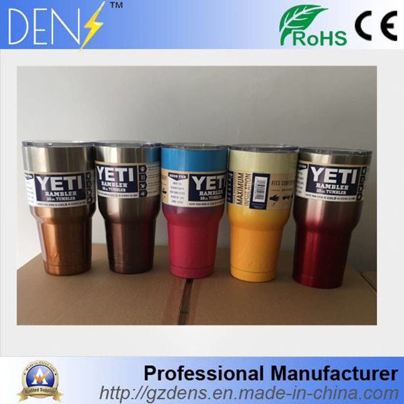 91e18781430 2017 Changing Color YETI Colorful Powder Coated Stainless Steel 30oz ...