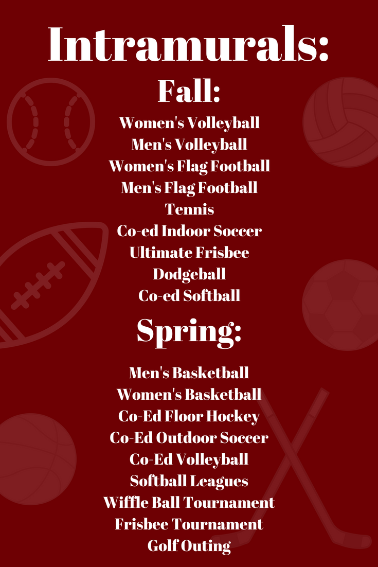 Eastern Connecticut State University Offers A Variety Of Intramural Sports To Participate In The Intramural Sport Intramurals Softball League Women Volleyball