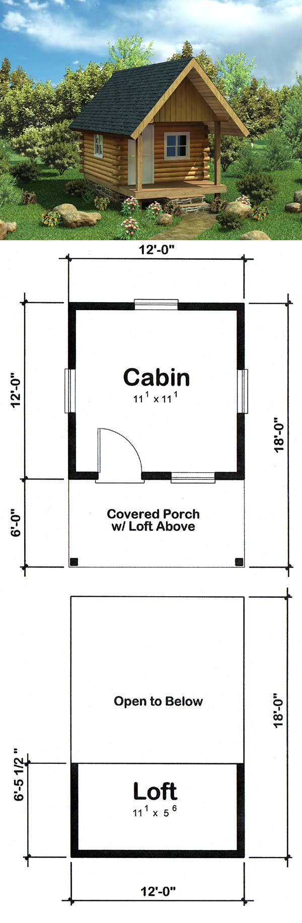 Cabin log house plan 6024 log siding compact and cabin for Log siding house plans