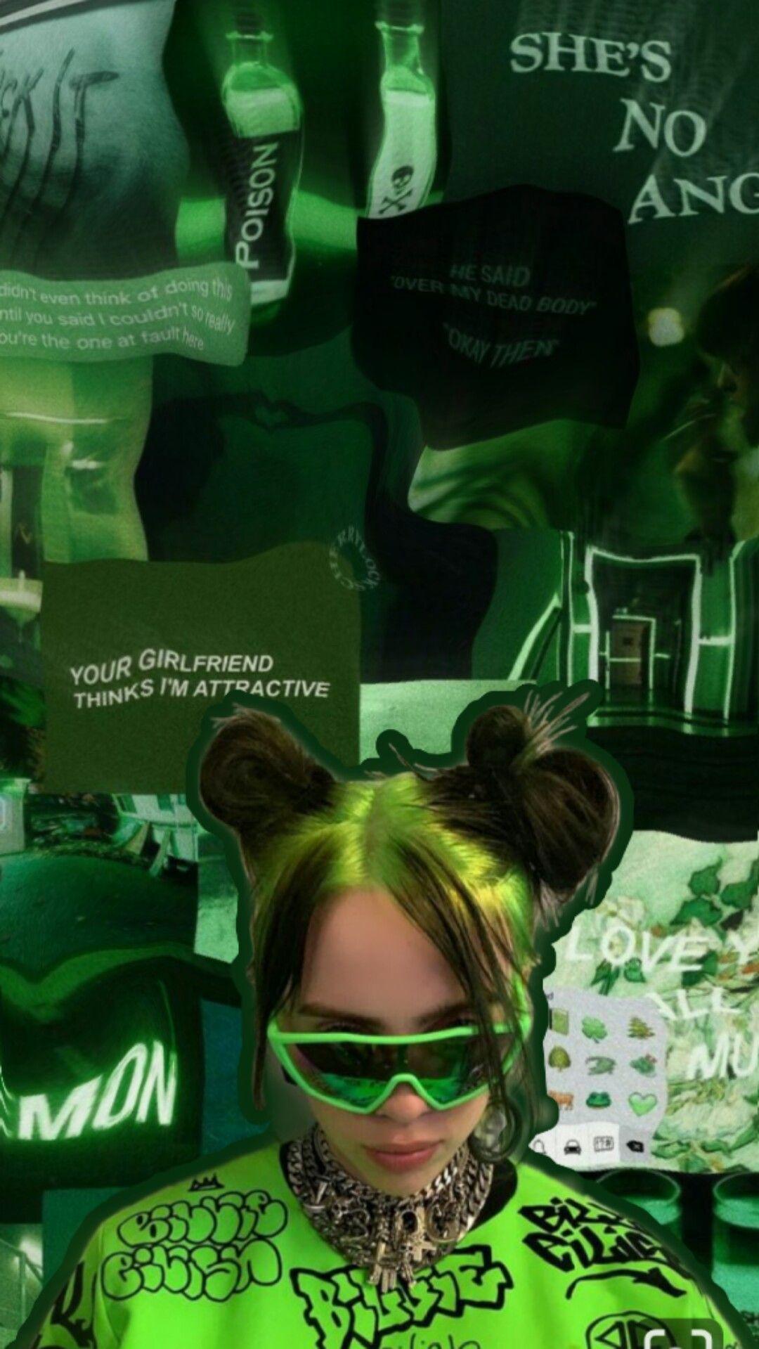 Green Billie Wallpaper Green Aesthetic Billie Eilish Billie