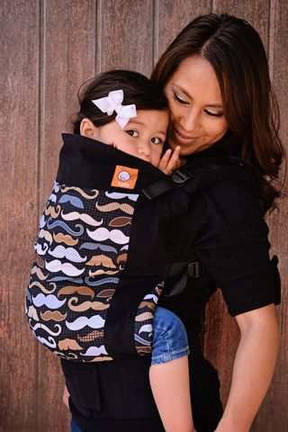 Now that's cute Mustaches - Tula Toddler Carrier