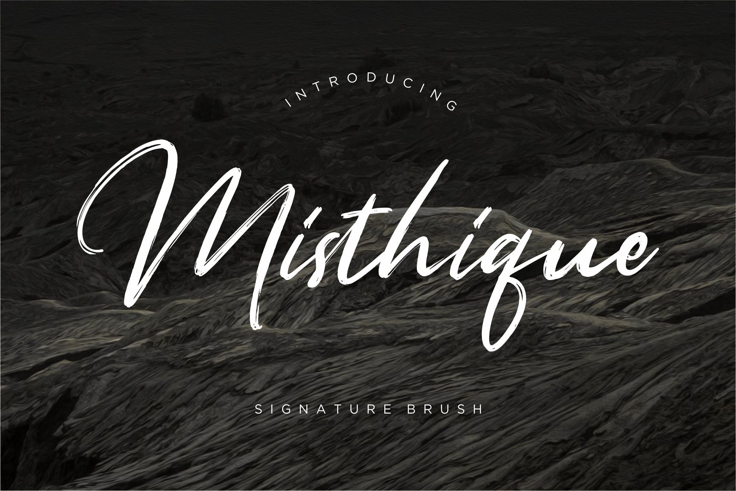 **Misthique** is a signature brush font with rough and