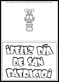 FREE greeting card in Spanish for St. Patrick's Day