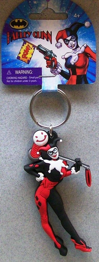 DC COMICS BATMAN S HARLEY QUINN SOFT TOUCH PVC KEY RING MG A5 #Unbranded