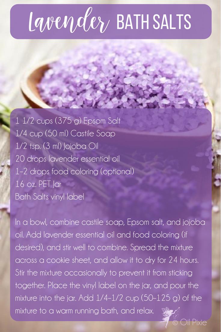 Check Out This Easy Diy Lavender Bath Salts Recipe Bath Bathsalts Diy Essentialoils Skincare Skin Ski Lavender Bath Salts Bath Salts Recipe Bath Salts