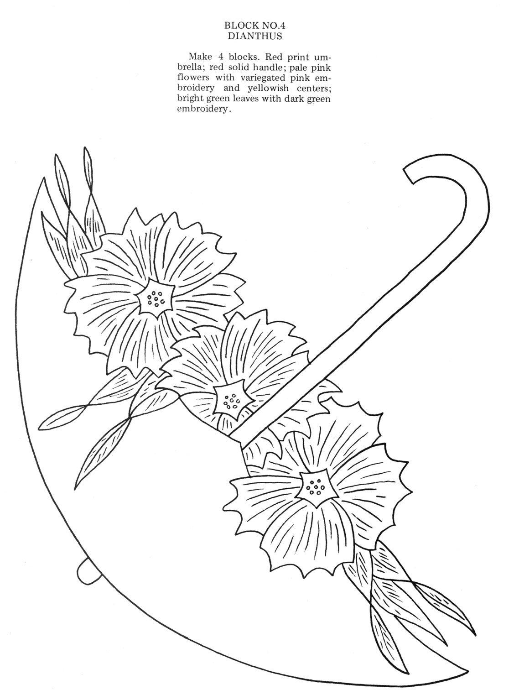 Unbrella bouquet dianthus parasol parlor pinterest