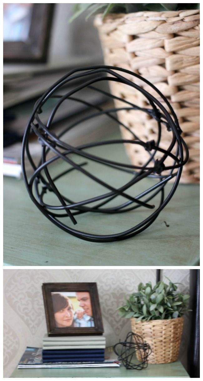 How to Make Stylish Decorative Orbs from Coat Hangers | Coat hanger ...