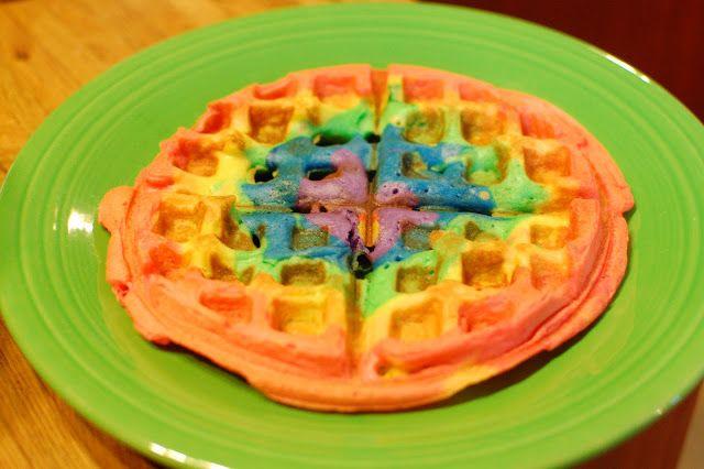 *Random Thoughts of a SUPERMOM!*: Rainbow Waffles
