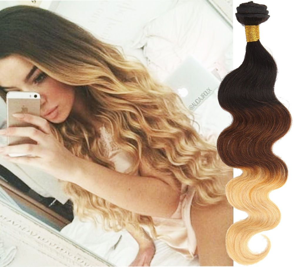 Us Hot Sale Ombre Body Wave Real Human Hair Extension Grade 6a