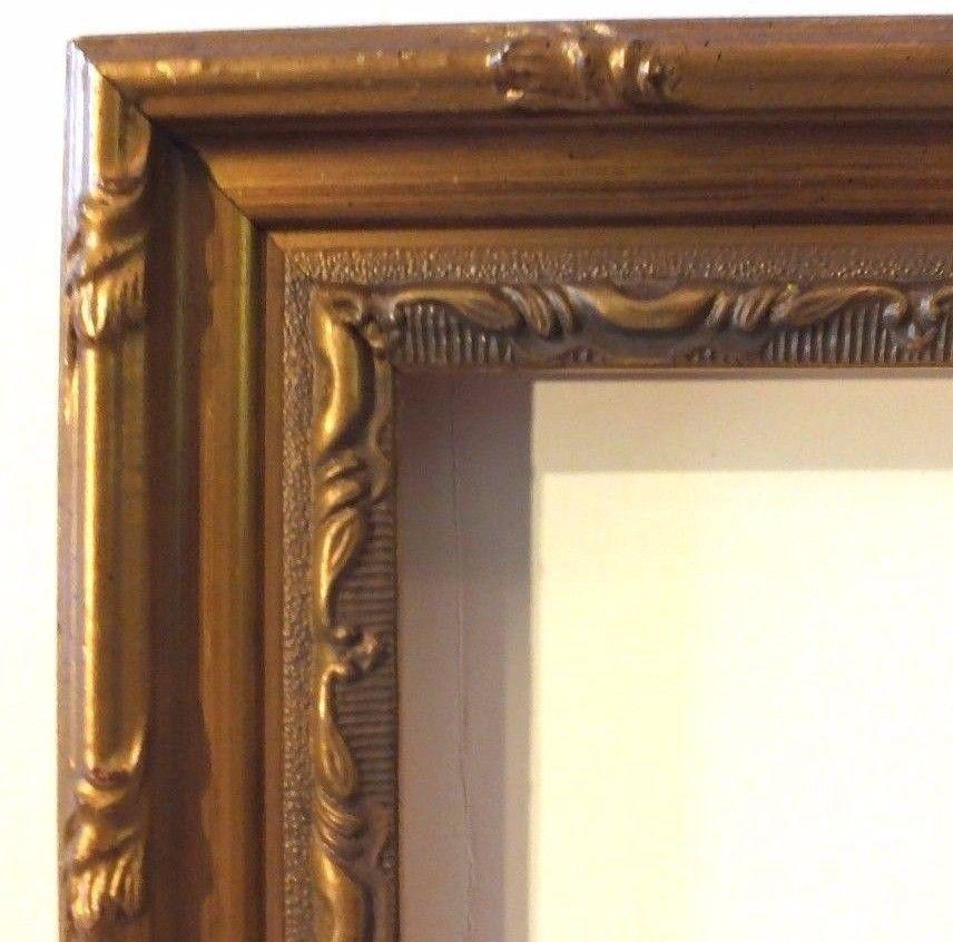 SALE-18 ft Ornate Picture Frame Moulding Antique Gold Leaf FREE ...