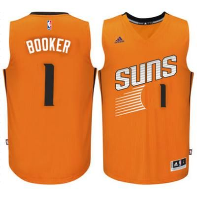 7319860dc87 Men s Phoenix Suns  1 Devin Booker adidas Orange Swingman climacool Jersey