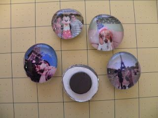 Photo Magnets from glass gems